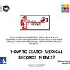 How to search medical records in EMIS