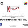 How to enter End of Trial data