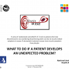 What to do if a patient develops an unexpected problem