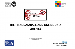 Trial database and online queries v2