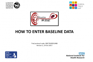 How to enter baseline data v2