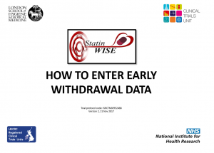 How to enter early withdrawal data v2