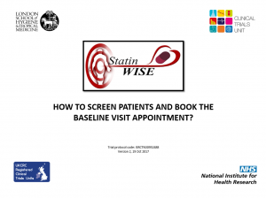 How to screen patients and book baseline v2